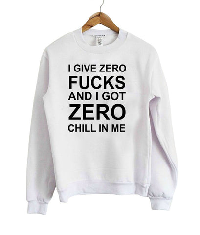 i give zero sweatshirt