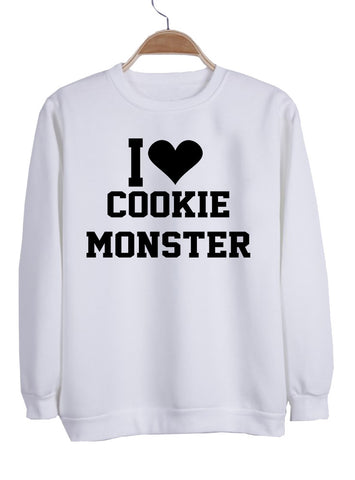 i love cookie monster sweatshirt