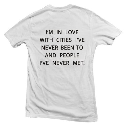 i'm in love back T shirt