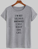 i'm not socially awkward T shirt