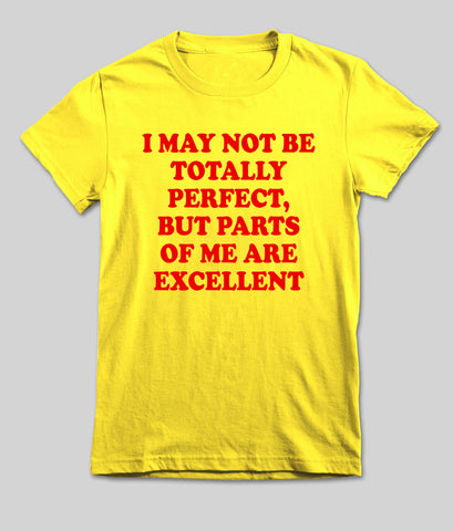 i may not be totally perfect T shirt