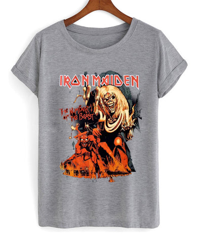iron maiden the number of the beast  t-shirt