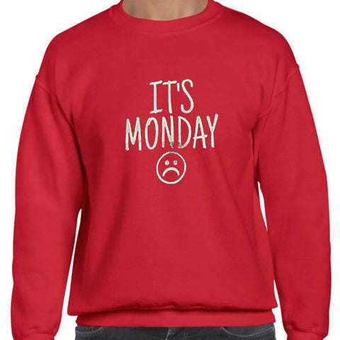 its monday sweatshirt red