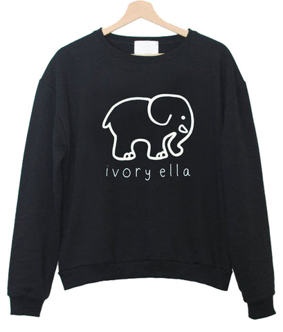 ivory ella front sweatshirt front printed