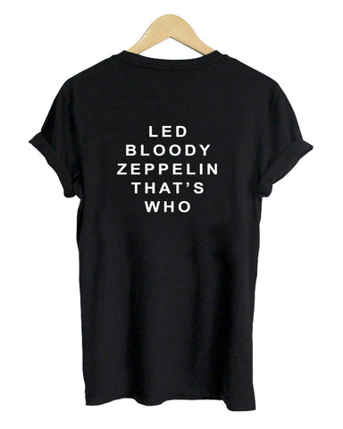 led bloody tshirt back