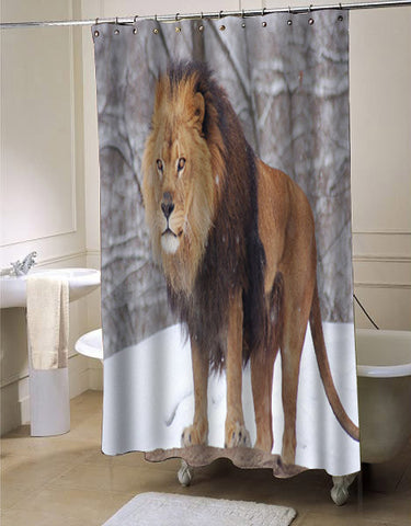 lion shower curtain customized design for home decor