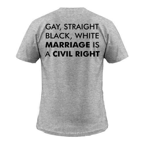 marriage is a civil right back T shirt