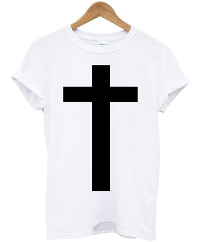 metal cross T shirt