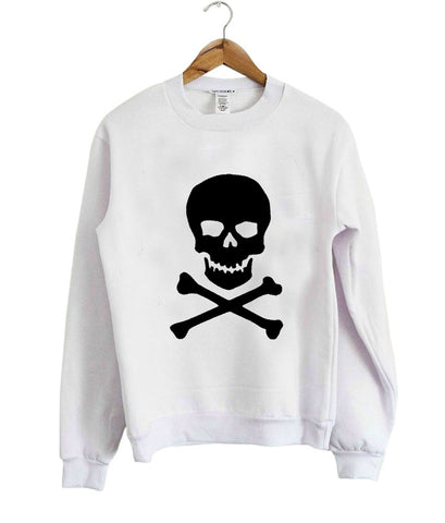 metal dange rskull sweatshirt