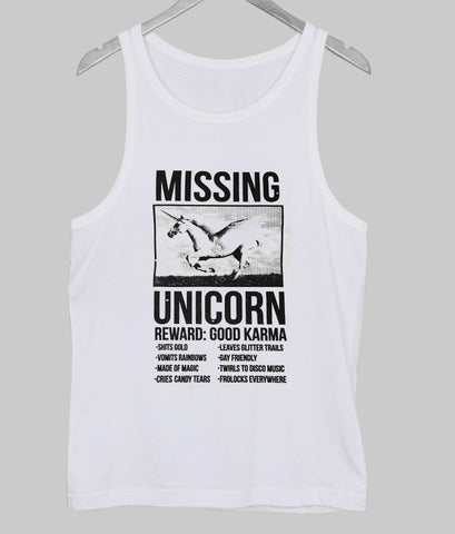 missing unicorn  Tank Top