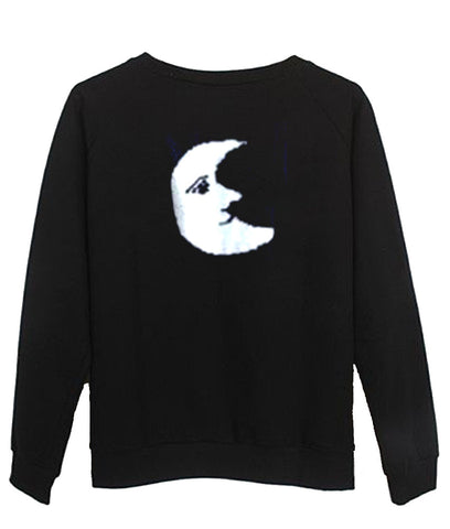 moon sweatshirt back