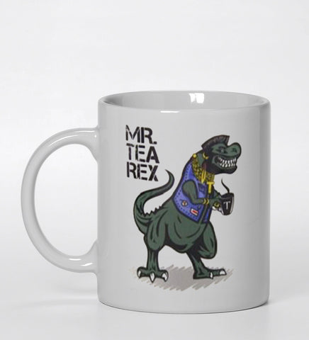 mr Tea Rex  Ceramic Mug