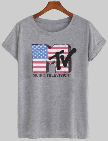 mtv flags T shirt