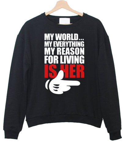 my world everithing couple1 sweatshirt
