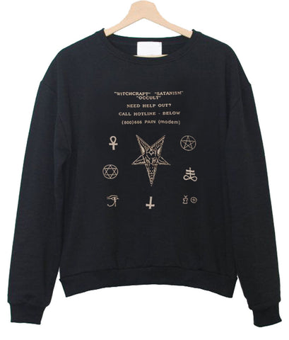 nail accessories sweatshirt