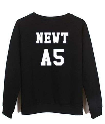 newt A5 maze runner back sweatshirt back