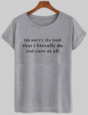 not care T shirt