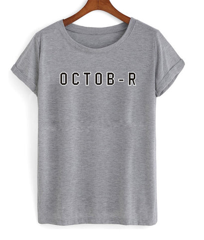 october tshirt