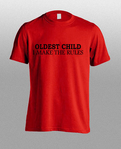oldest child red T shirt