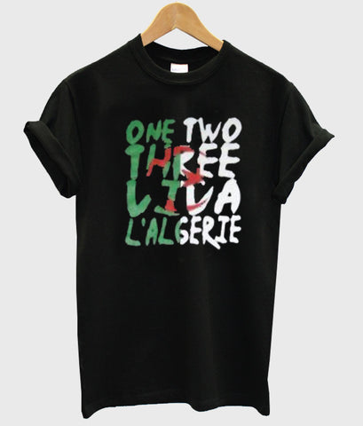 one two three tshirt