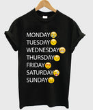 one week emoji T shirt