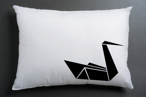 origami couple pillow case