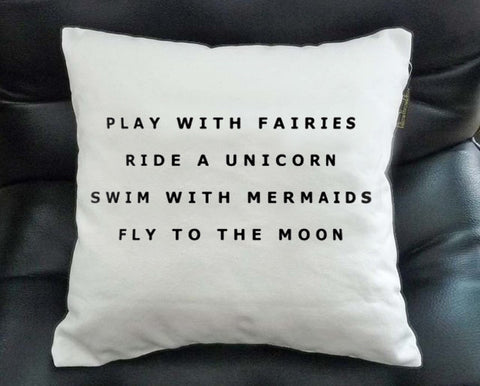 play with fairies Pillow Case