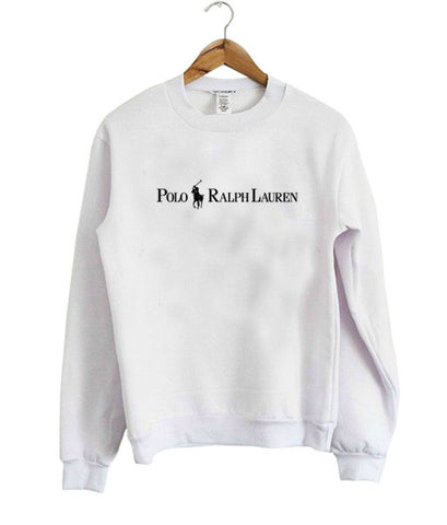 polo raiph lauren sweatshirt white