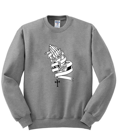 prayinghands sweatshirt