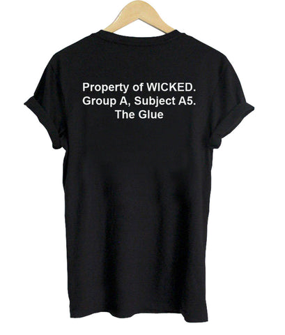 property of wicked maze runner tshirt back shirt
