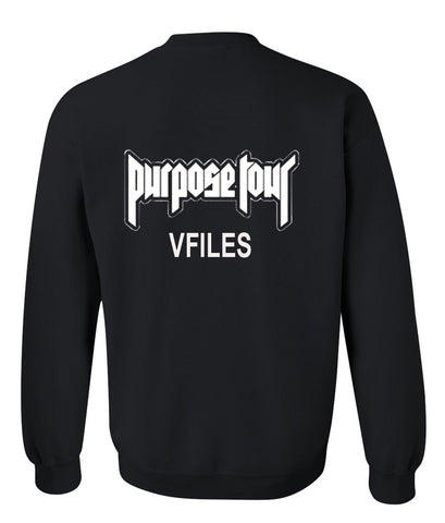purpose tour sweatshirt back
