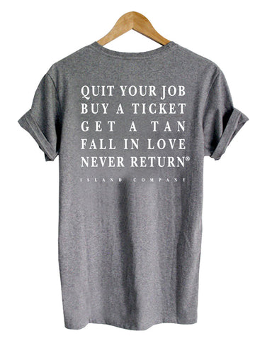 quit your job buy  tshirt back