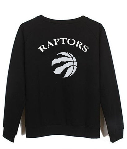 raptors back sweatshirt back printed