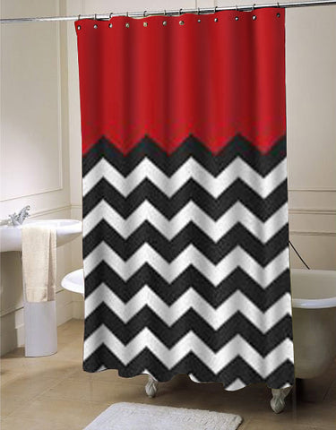 red chevron shower curtain customized design for home decor