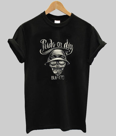 ride or die printe tshirt