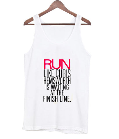 run like chris tanktop