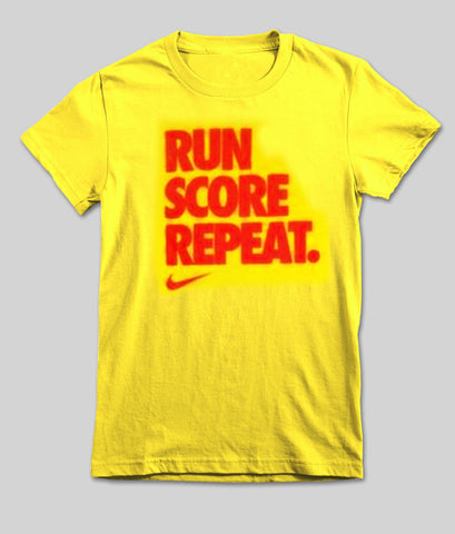 run score repeat T shirt