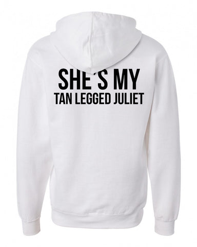 she my tan legged juliet back hoodie