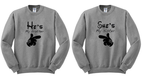 she's my sister sweatshirt couple