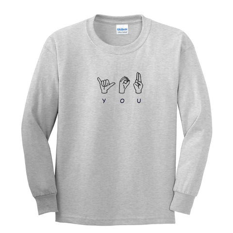 sign language sweatshirt
