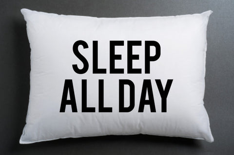 sleep all day Pillow case