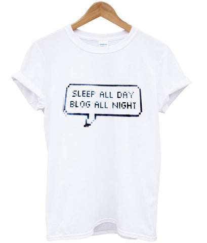 sleep all day tshirt