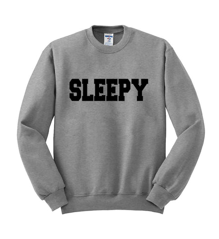 sleepy sweatshirt