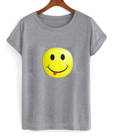 smiley face with tongue Tshirt