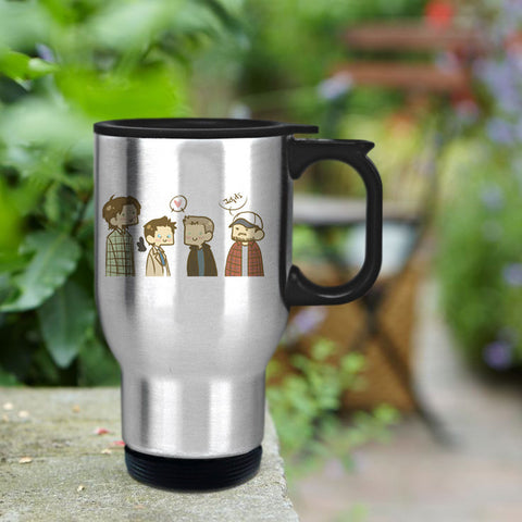 Supernatural cartoon Travel mug