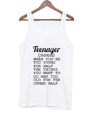 teenager tanktop