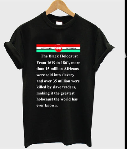 the black holocaust tshirt
