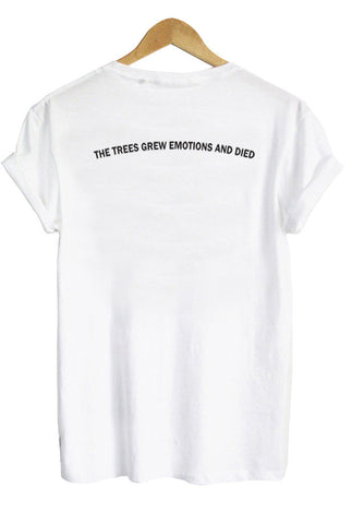 the trees tshirt BACK