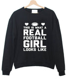 this is what a teal football sweatshirt
