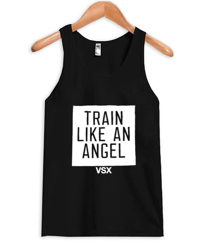 train like an angel tanktop